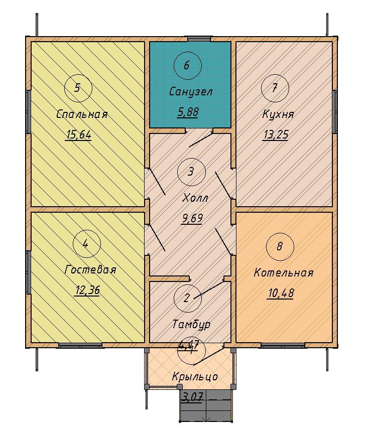 план дома коридорного типа